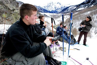Montgenèvre : pique nique dans la montagne